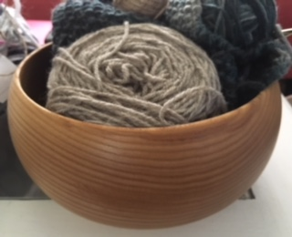 Handmade wooden bowl from Custom Woodworking Etc.