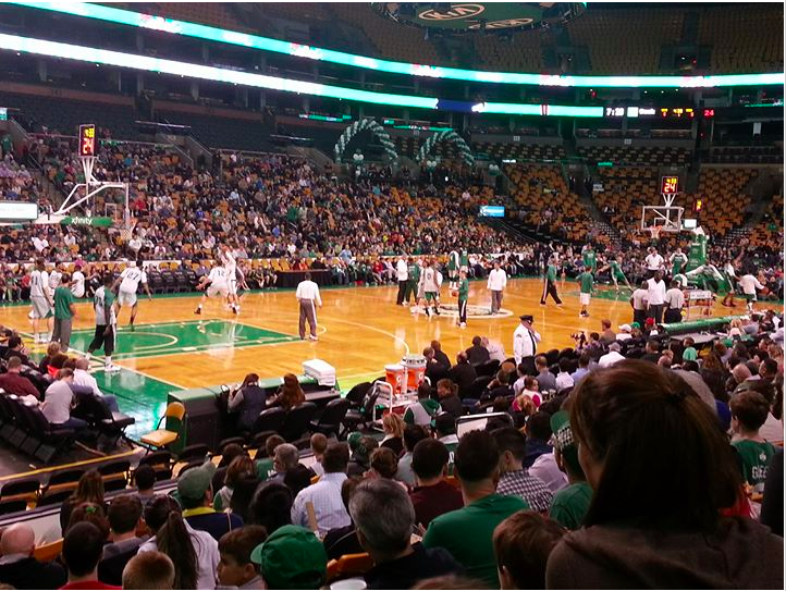 Celtics Tickets 9th row, behind visitors bench. Date to be arranged between winner and donor.
