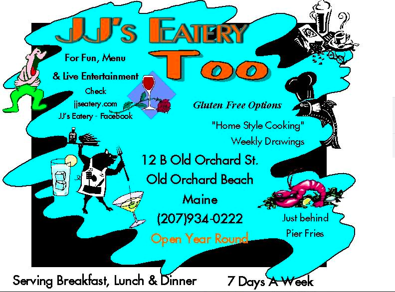 $25 gift card to JJs Too in OOB  https://www.facebook.com/JJs-Eatery-Too-264042108493/