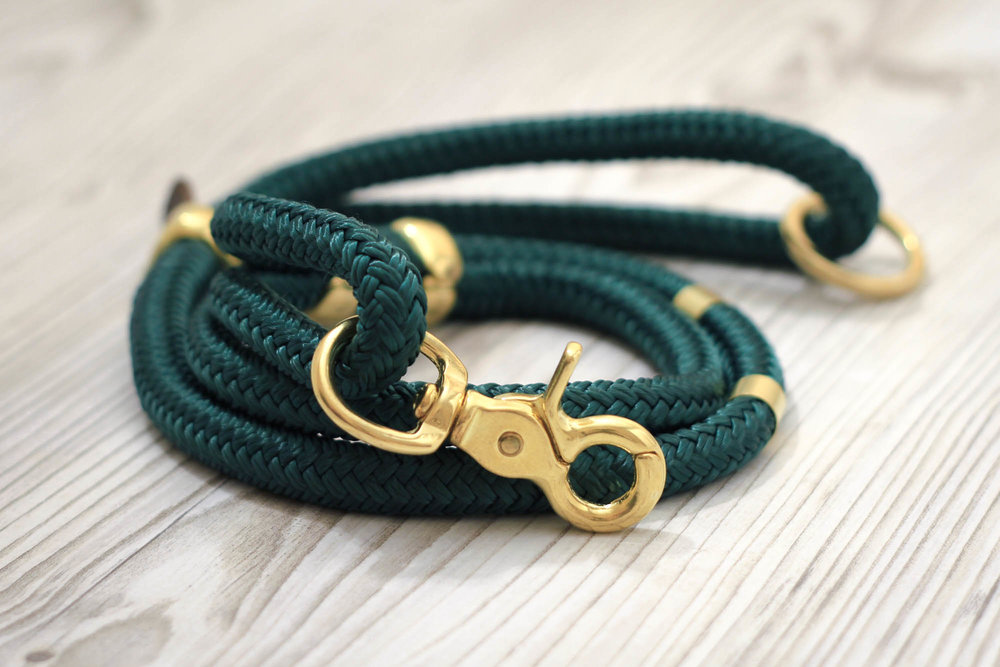 Kucha Emerald Green Leash Lobster 2.jpg