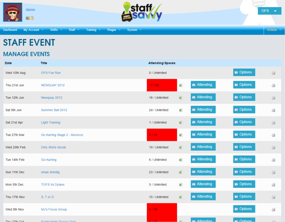 Staff Events