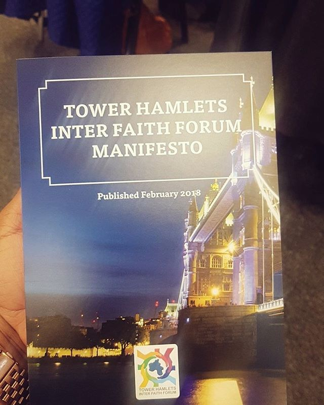 Our new THIFF manifesto is ready and launched.  Email info@faithintowerhamlets.org if you would like a copy 😊