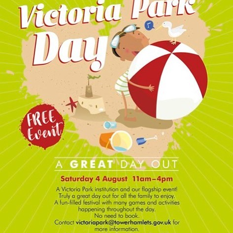 Don't miss out on all the fun at Victoria Park - Sat 4 August, 11 - 4! Music, rides, arts and crafts and more!