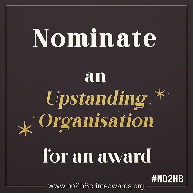 Nominations close tomorrow to reward an individual or organisation that has stood up to hatred, prejudice or intolerance in their community.  #no2h8crime
