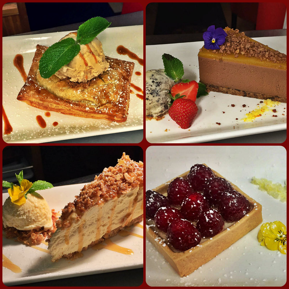 Fresh desserts made daily at The Brass Monkey Restaurant, Howth