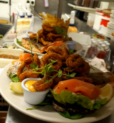 seafood sharing platters at the brass monkey, howth