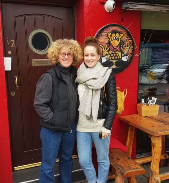 Heike and Anna always come to the Brass Monkey for the warm welcome and of course the chowder.