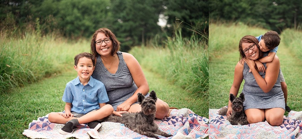 mother and son portraits at green meadows preserve marietta, ga