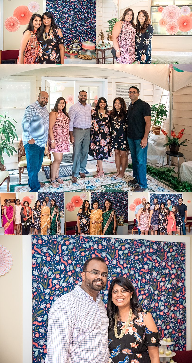 Guests at baby shower photos in home Roswell, GA