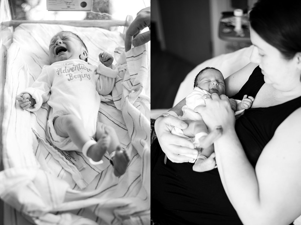 black and white pictures of newborn baby Northside Atlanta Hospital