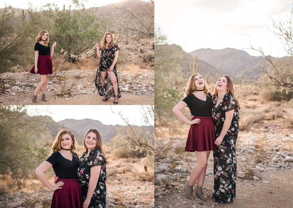 Senior girls laughing BFF