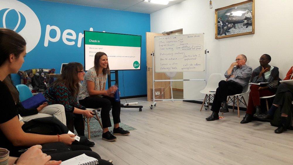 Susan and Kate hosting an Open Enspiral workshop in London