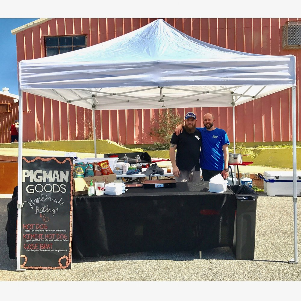 Owner's Colin Miles and Brandon west at Charleston's Brewvival 2017