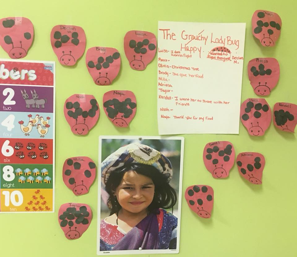One of Lake Mary Childcare Class Notice Boards