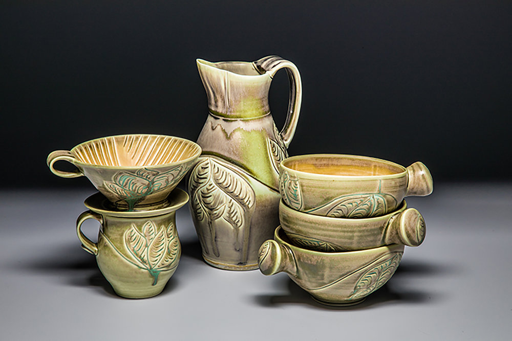 Wrenn Pottery lotusleafset.jpg