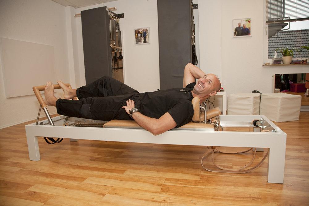 Wie man sieht hat Anthony Lett riesen Spaß bei seinen Stretches.