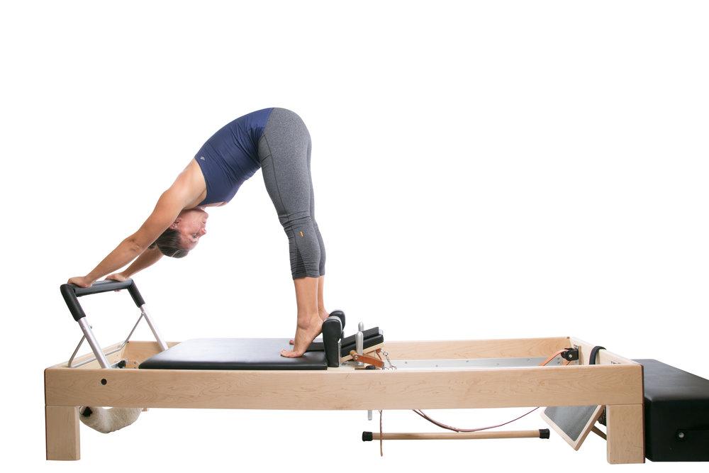 Diese Reformer Übung heißt Up Stretch