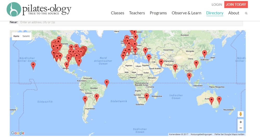 Das pilatesology Directory - ein guter Platz, um nach einem guten Pilates Studio zu suchen.