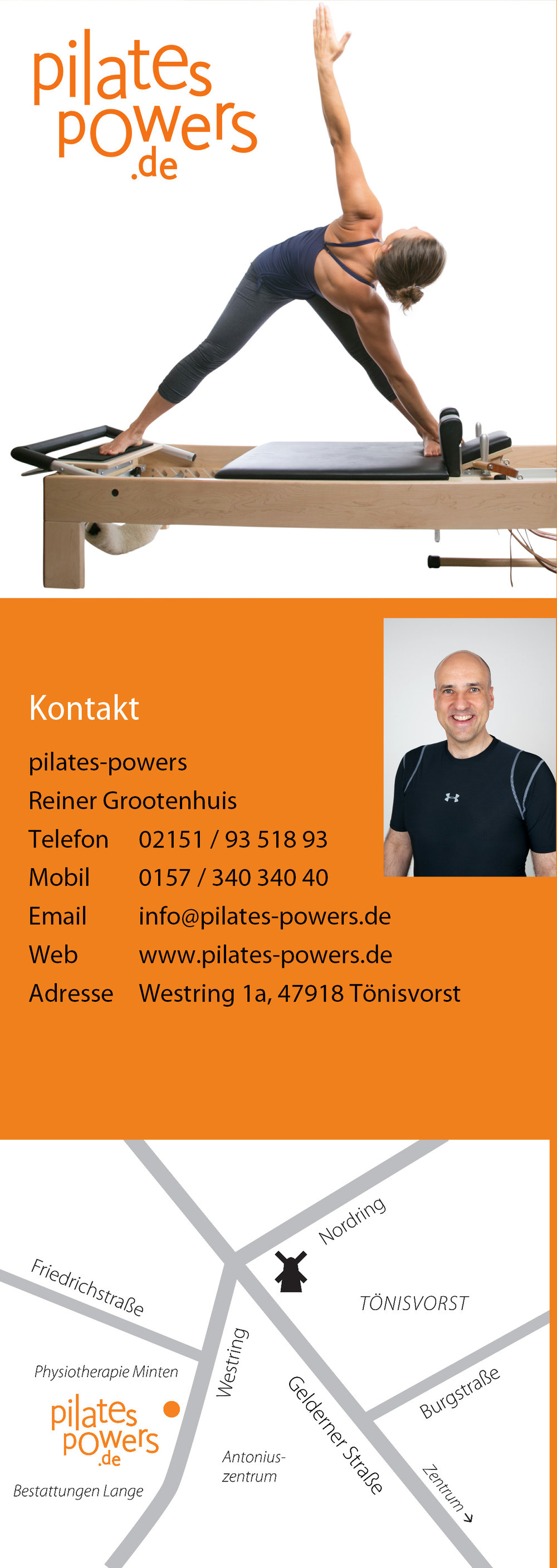 Kontaktinformationen pilates-powers
