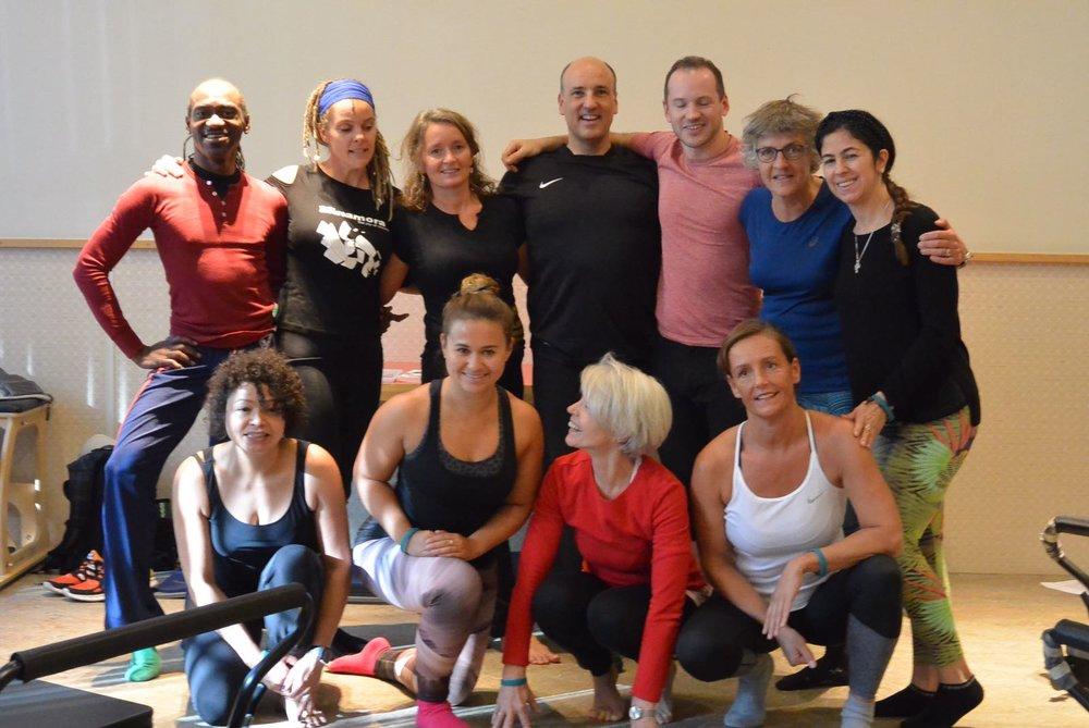 Teilnehmer des Stretching Workshops mit Reiner Grootenhuis