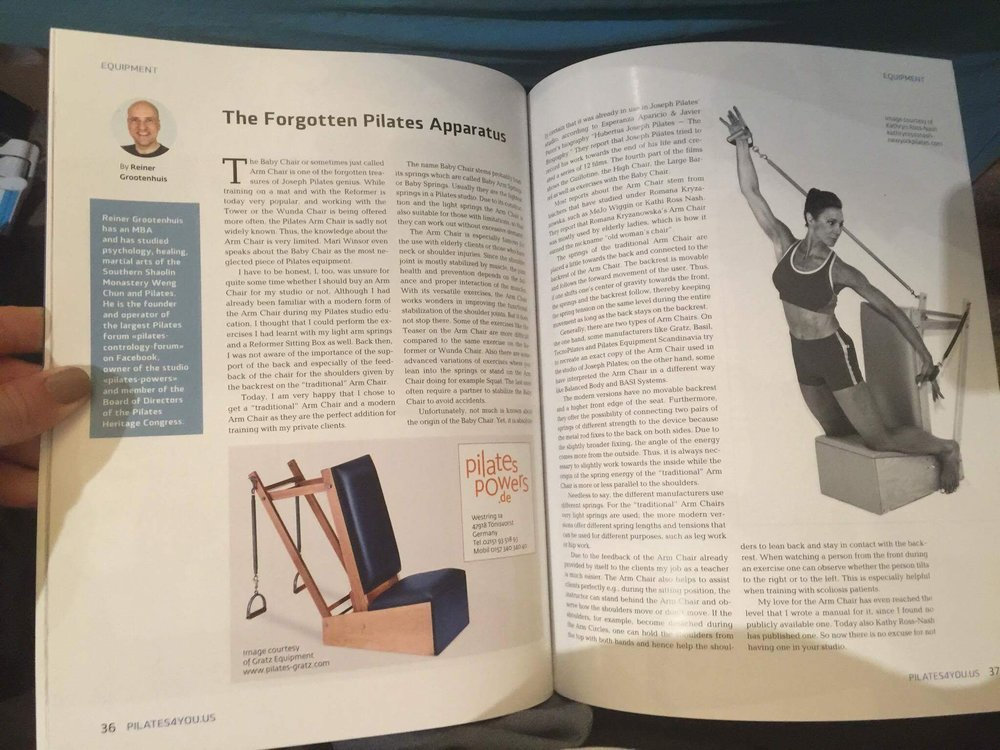 Pilates4you Article über den Arm Chair
