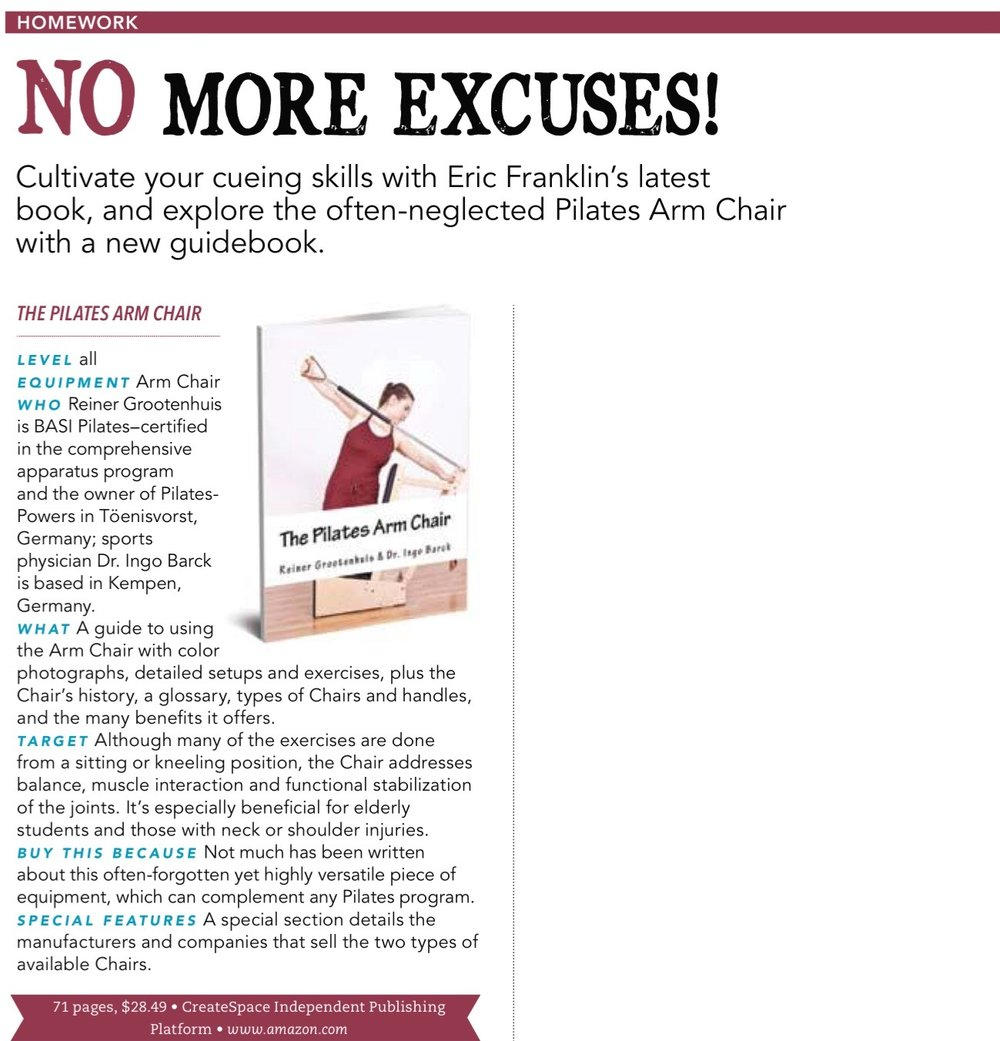 Pilates Style Magazine Review für das Arm Chair Manual