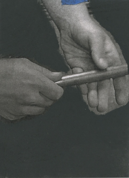 Part of a series I am working on of altered photographs of hands in motion