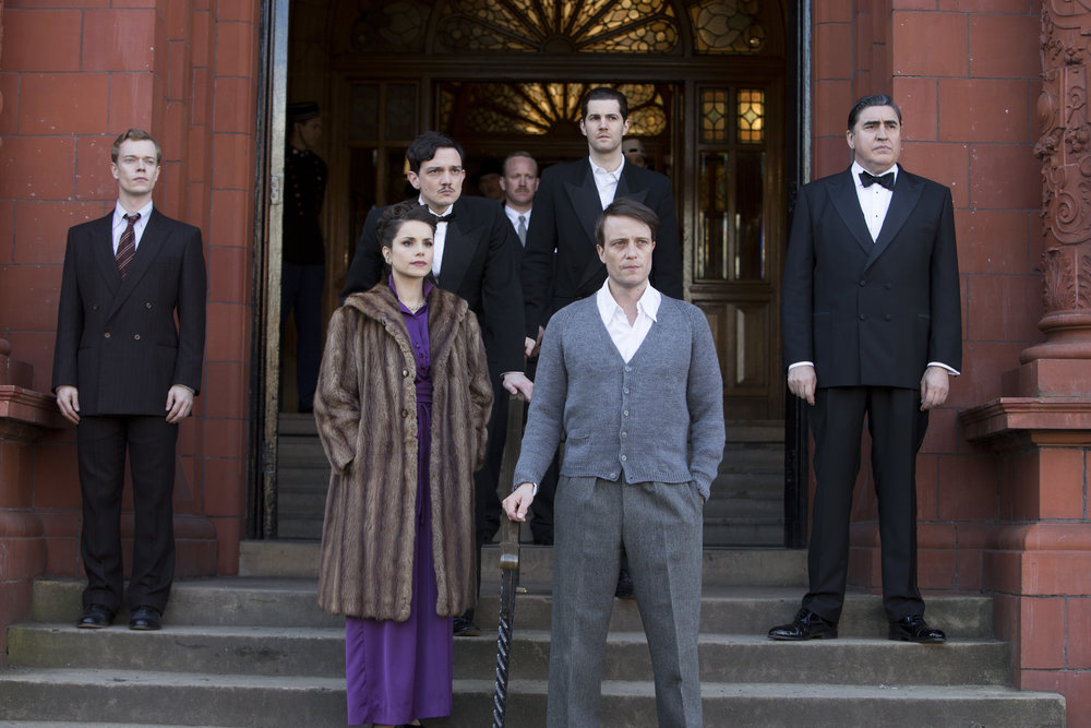 Alfie Allen, Charlotte Riley, Sebastian Armesto, August Diehl, Jim Sturgess and Alfred Molina in Close to the Enemy