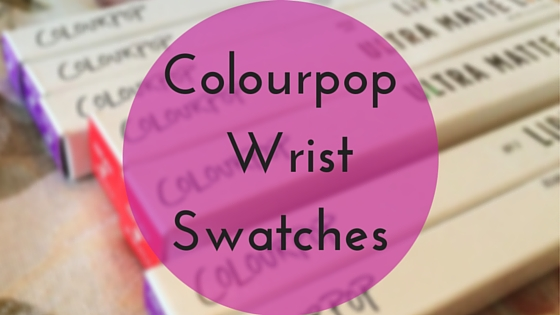 Colourpop Wrist Swatches