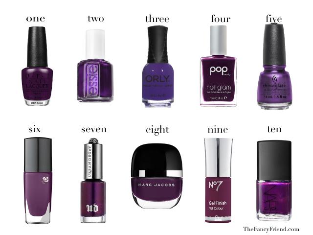 deep purple manis
