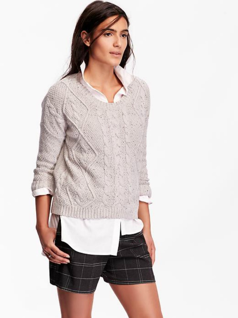 Petite Cable Knit Sweater from Old Navy