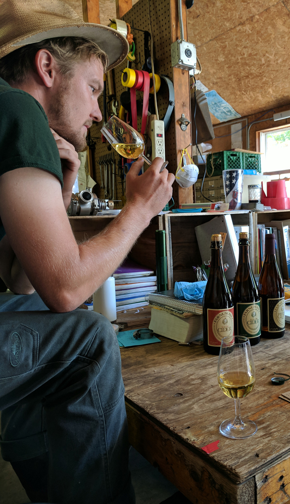 Thirsty work: Tasting the cider at Farnum Hill