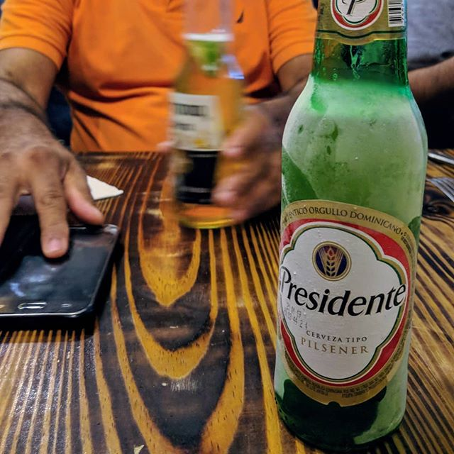 "Hosted an ecommerce workshop with small, artisan producers in the Dominican Republic over the last three days, which was briefly disrupted by an animated conversation about aromatics and serving temperatures and how the Dominican predeliction for serving ice cold -- AS IN FROZEN -- beer may in fact simply mask poor beer.  They call it ""con la vestida de novia,"" or: ""with the wedding dress."" It made perfect sense, therefore, to celebrate the successful end of the workshop by engaging in a little market research."