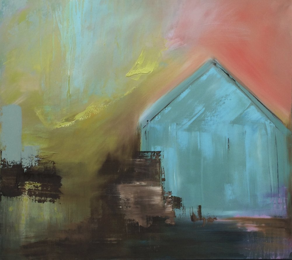 Once a home - Long Island. Oil on Canvas