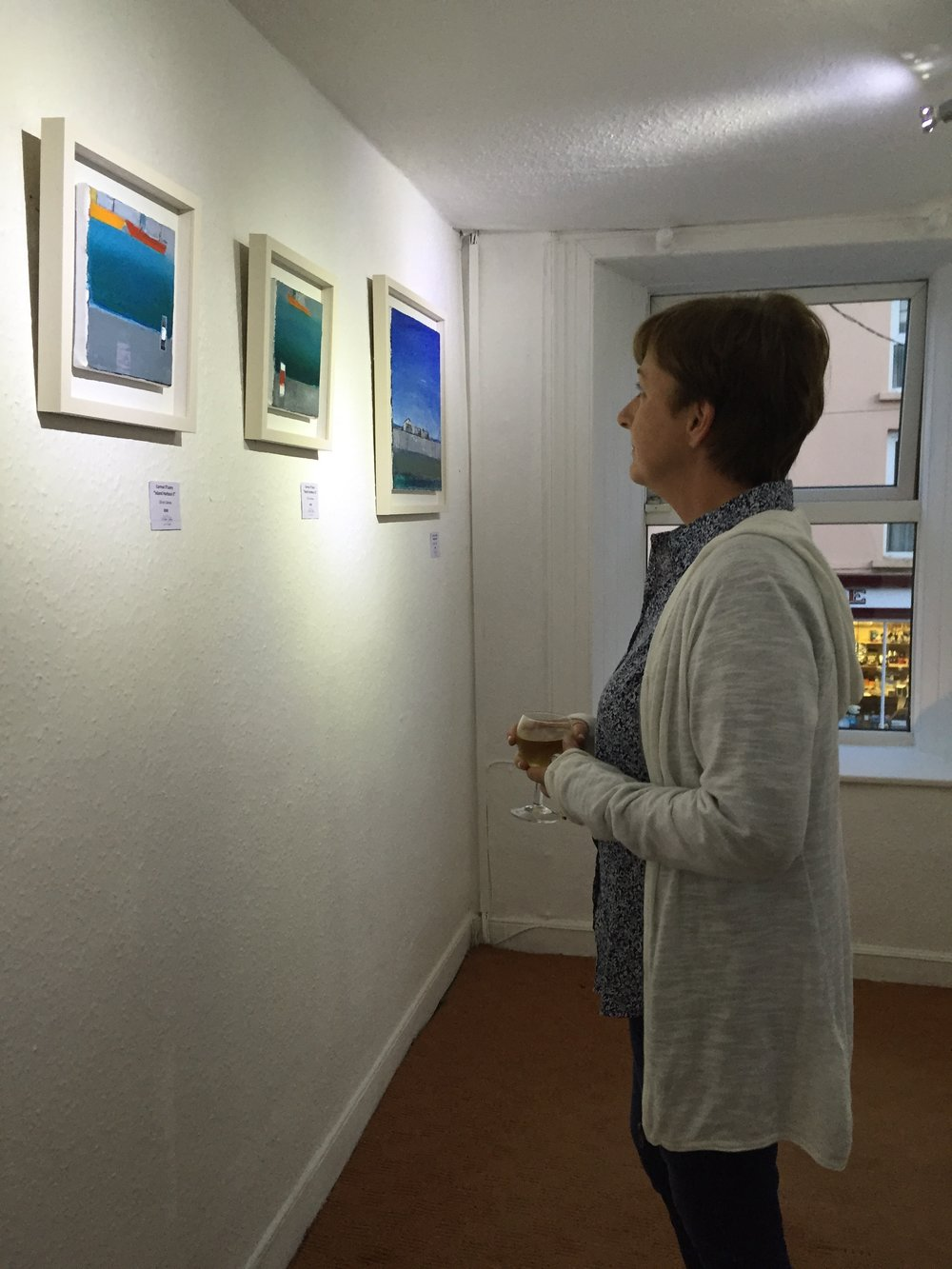 Viewing Cormac's paintings