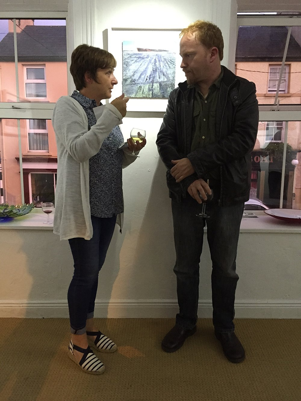 Helen with artist Cormac O'Leary