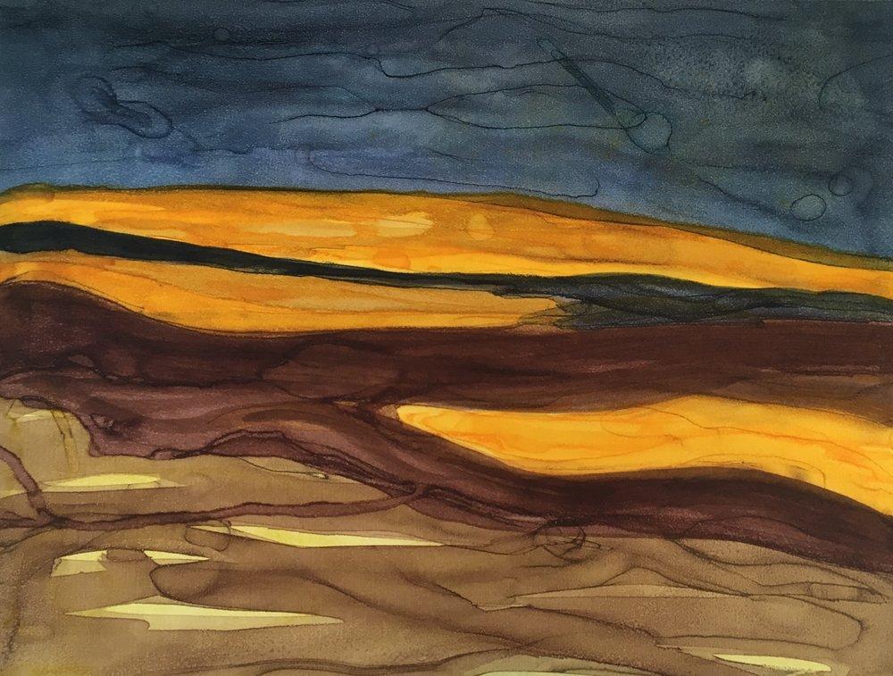 The Burning Furze lll, Mono Screenprint, Unframed, €190