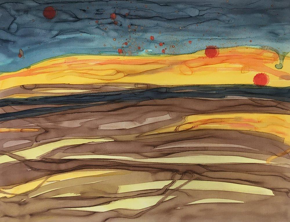 The Burning Furze lV, Mono Screenprint, Unframed, €190