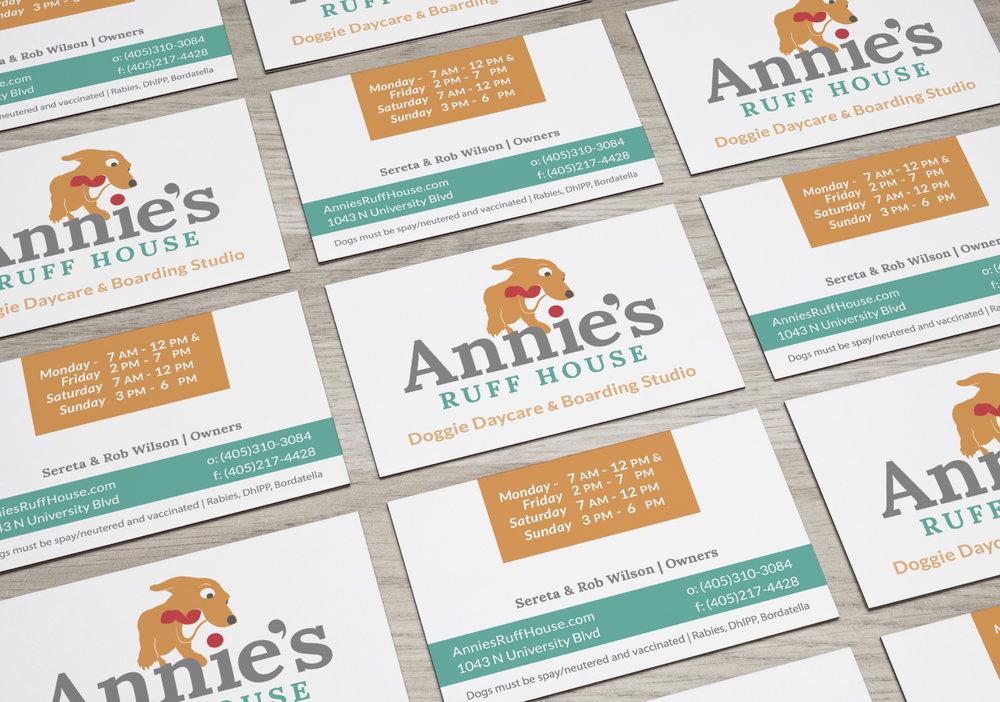 Annie's Ruff House | Rebranding, Website, Print