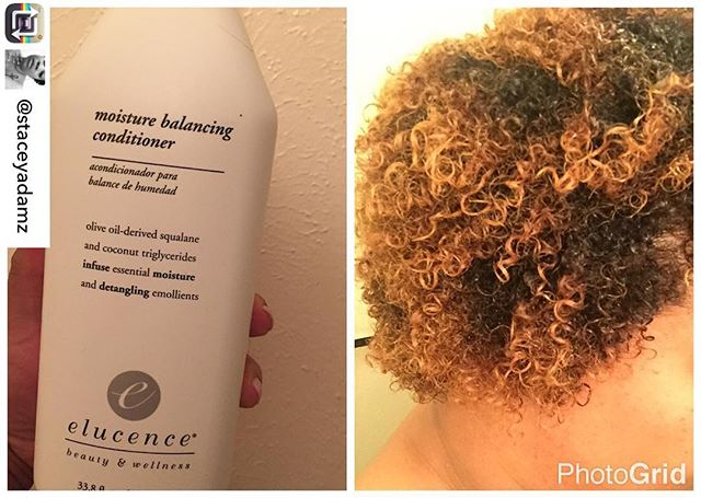 """Great to hear! 🙌🏽 Repost from @staceyadamz using @RepostRegramApp - I got this @elucence conditioner in a  #Curlbox about a year ago. I tried it and it seemed so """"runny"""" that I didn't want to use it. I'm used to thick conditioners. One day I ran across it under my sink and read the back. It said it could also be used as a leave in. So, I went for it. Let me tell you: NO REGRETS!!! It is perfect as a leave in and my hair is SUPER SOFT!! I just bought this big bottle of this off of Amazon and that's the only thing in my hair in the pic. I give an official co sign on this product. #elucence #softhair #naturalingredients #conditioner #hair #naturalhair"""