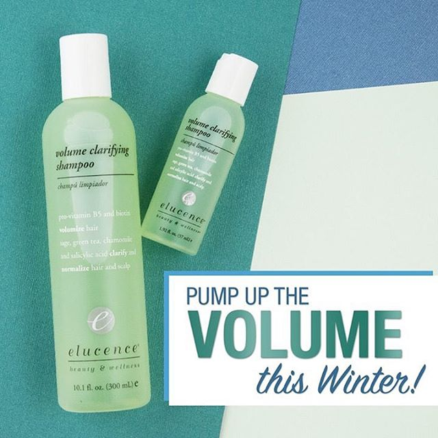 Pump up the #Volume this #winter with #Elucence!  #natural #naturalingredients #elucenceproducts #naturalhair #shampoo #clarifyingshampoo