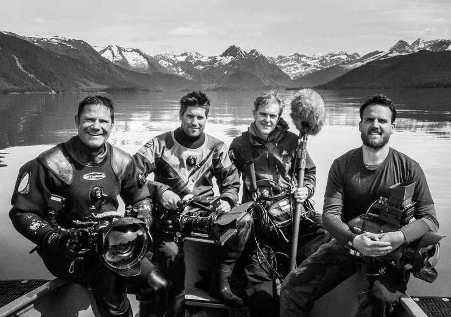 Some of the Wild Alaska Live team in Prince William Sound, Alaska