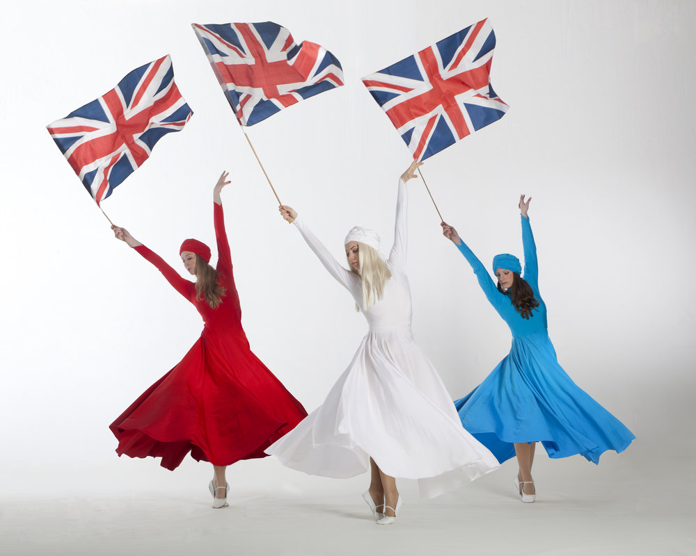 Light Emitting Dance in red, white and blue, flag performance, Divine Company.jpg