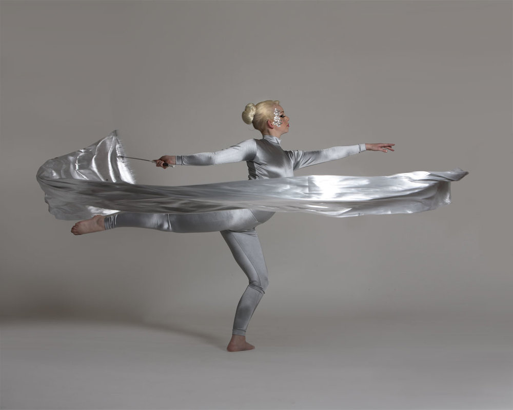 Silver, ribbon performance, Divine Company.jpg