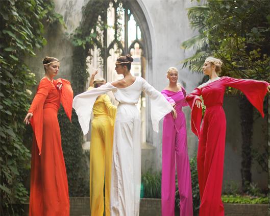 Arcadians in colour, stilt performance, Divine Company.jpg