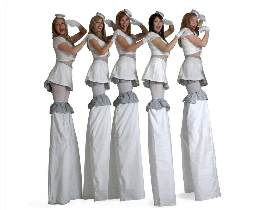 Hello Sailorettes, stilt performance, Divine Company.jpg
