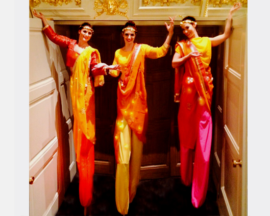 Bollywood, stilt performance 2, Divine Company.jpg