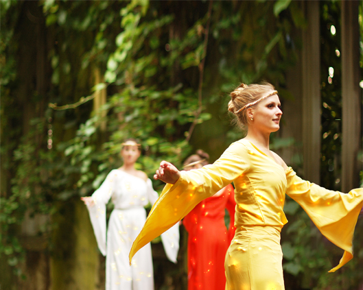 Arcadians in colour, stilt performance 3, Divine Company.jpg