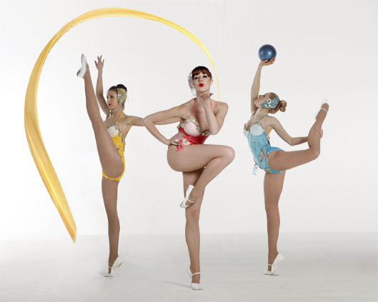 Electric Showgirls streamlined, ribbon ball and dance, Divine Company.jpg
