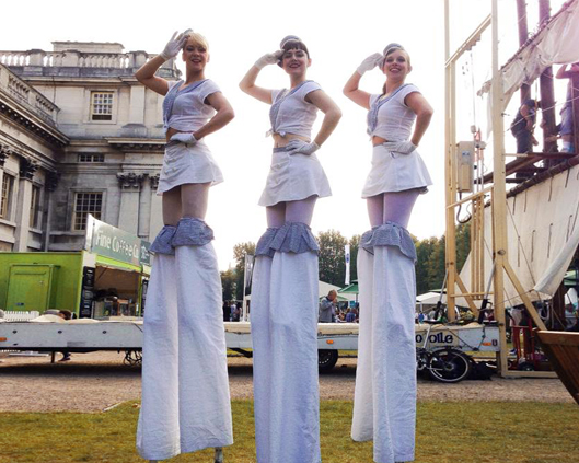 Hello Sailorettes, stilt performance 4, Divine Company.jpg